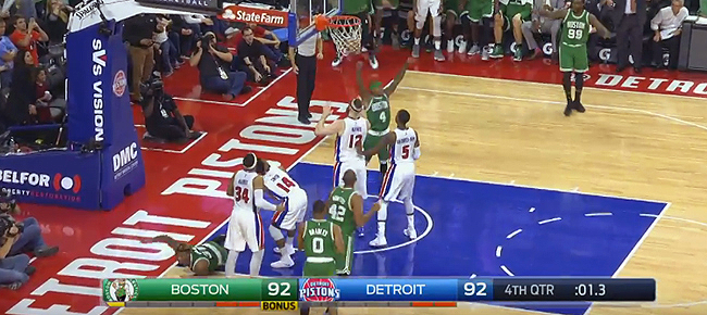Al Horford Tops Game Winning Shot with Game Saving Block (VIDEO)