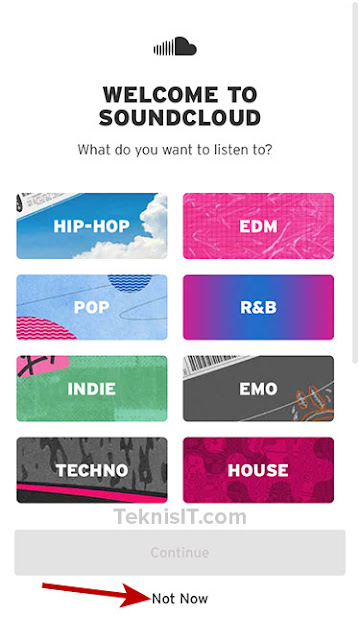 Cara daftar SoundCloud