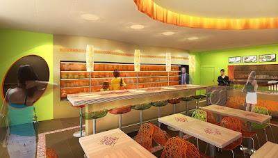 Perspective 3d restaurant concept restauration rapide