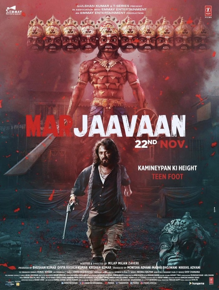movie 2019 ki First Look Posters Of Marjaavaan Film Releases On 22