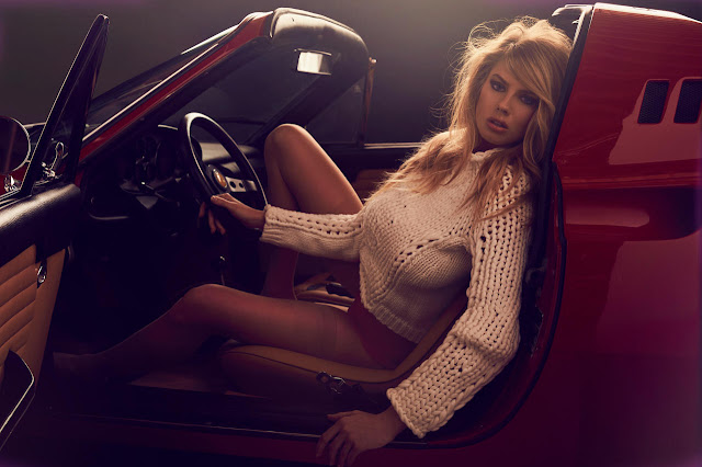 Charlotte McKinney gets racy for a Ferrari themed Maxim shoot