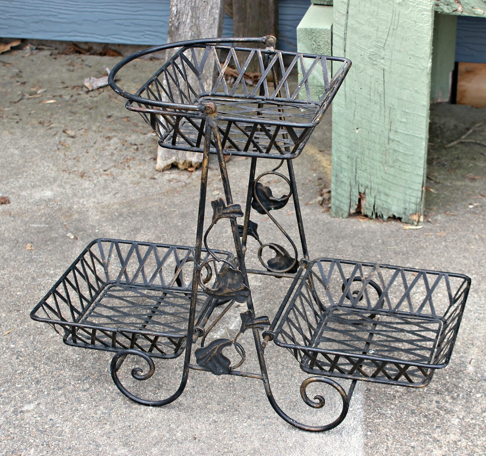 Up Cycled Midcentury Metal Plant Stand Organized Clutter