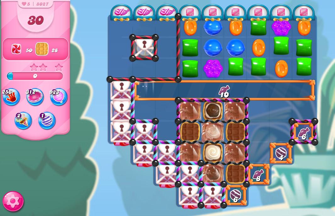 Candy Crush Saga level 8027