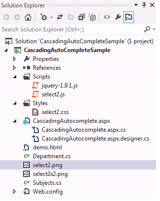 ASP NET: AJAX Cascading Dropdownlist with Autosuggest using