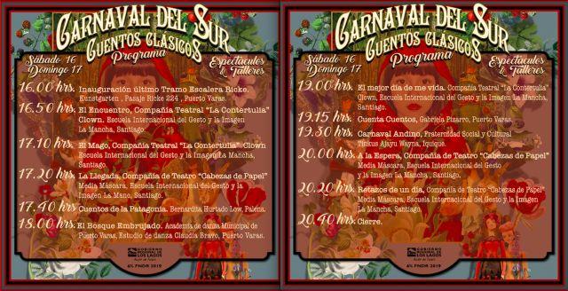 Programa actividades Carnaval del Sur