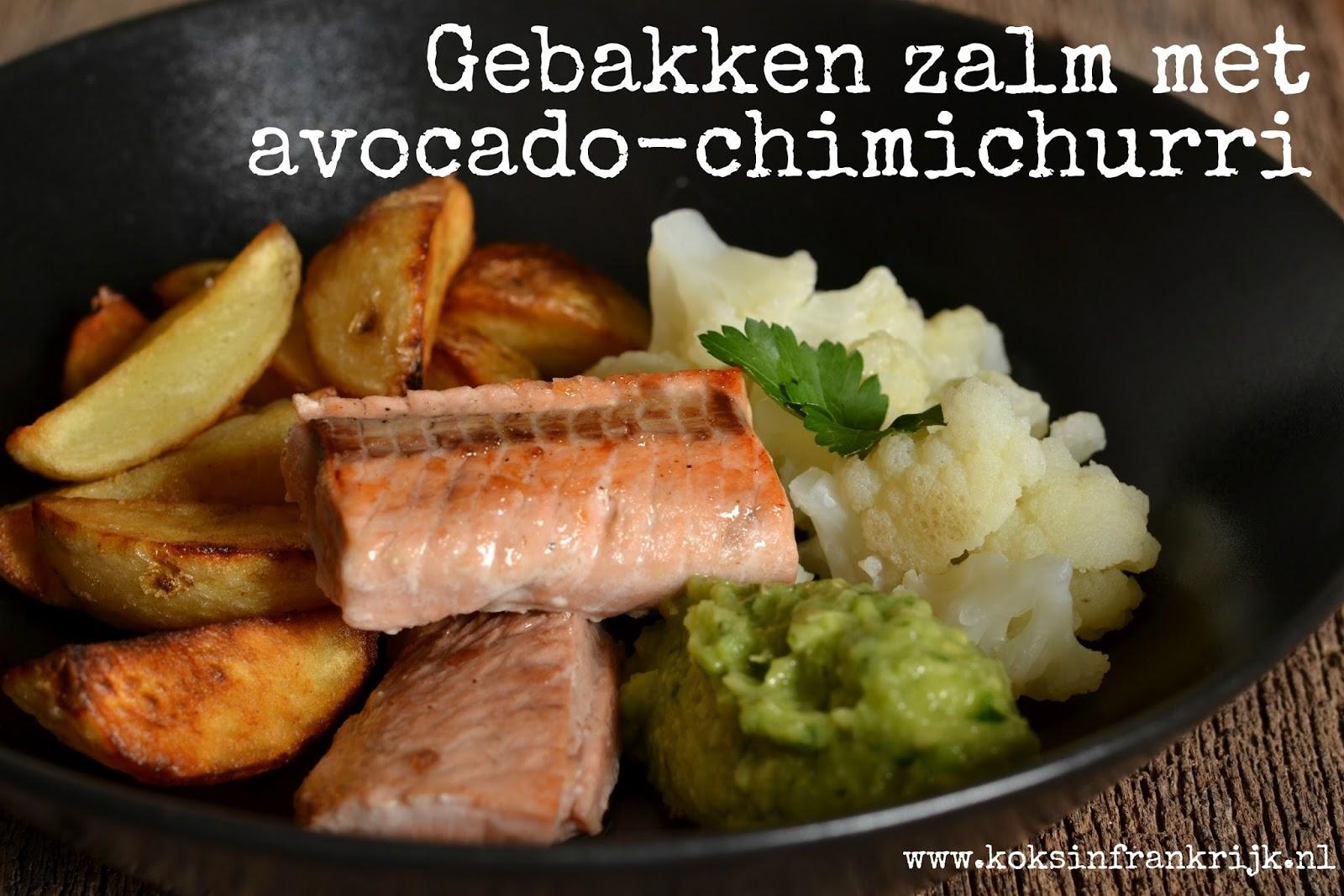 Orgineel recept met zalm en avocado - lekker pittig - met gebakken aardappel