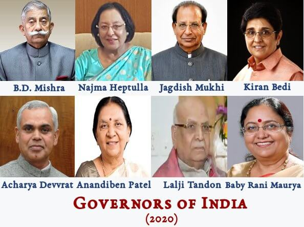 Governors of India (2020)