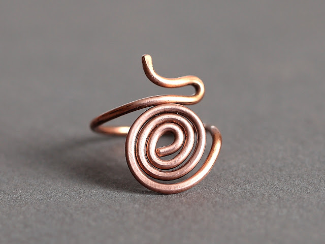 Hot Off The Bench - Chunky Copper Spiral/Swirl Ring