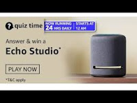 Amazon Quiz Answers Time Daily @ 24 HRS on 23 Feb 2021 Win Echo Studio