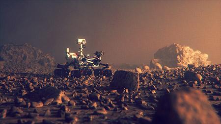 طائرات الأرض تحلق في أجواء المريخ