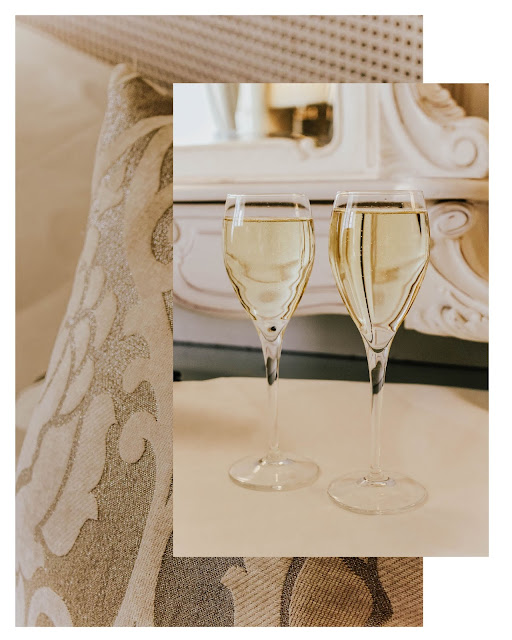 Chic Pair of Champagne Glasses