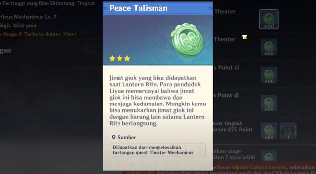 peace talisman