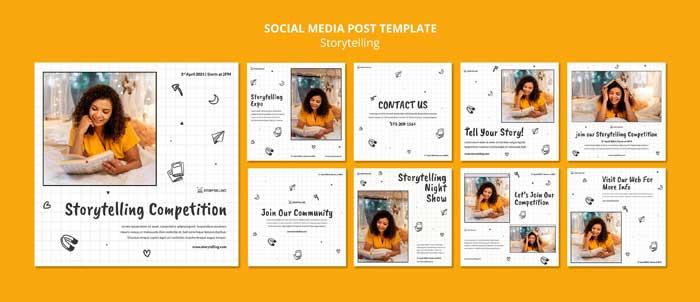 Storytelling Instagram Posts Template