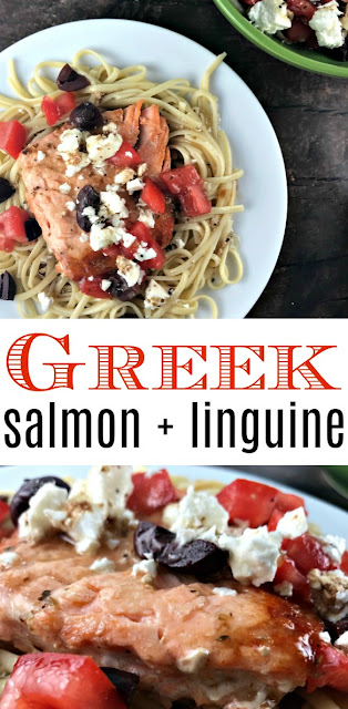 Recipe greek salmon pasta the food hussy created using the recipes generator forumfinder Images