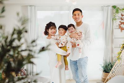 沖縄 百日 家族写真 フォトスタジオ おしゃれ