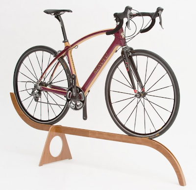 bike stand made from plywood