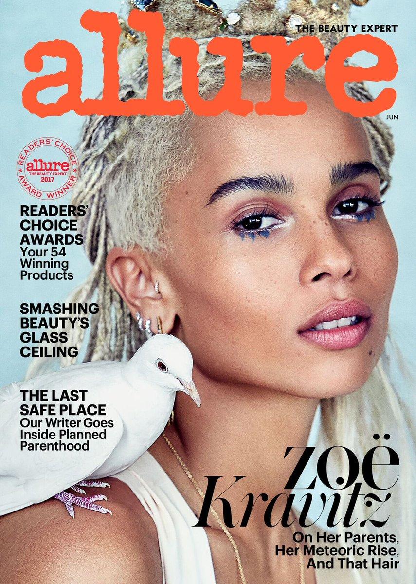 zoe kravitz on the june 2017 cover of allure magazine
