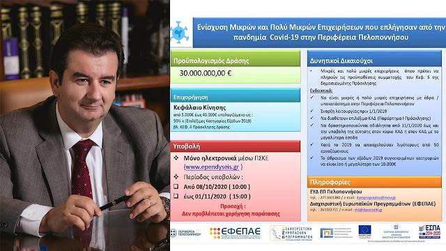 Αντιπεριφερειάρχης Αργολίδας: Πράξη η δέσμευση της Περιφερειακής Αρχής για ενίσχυση της Επιχειρηματικότητας