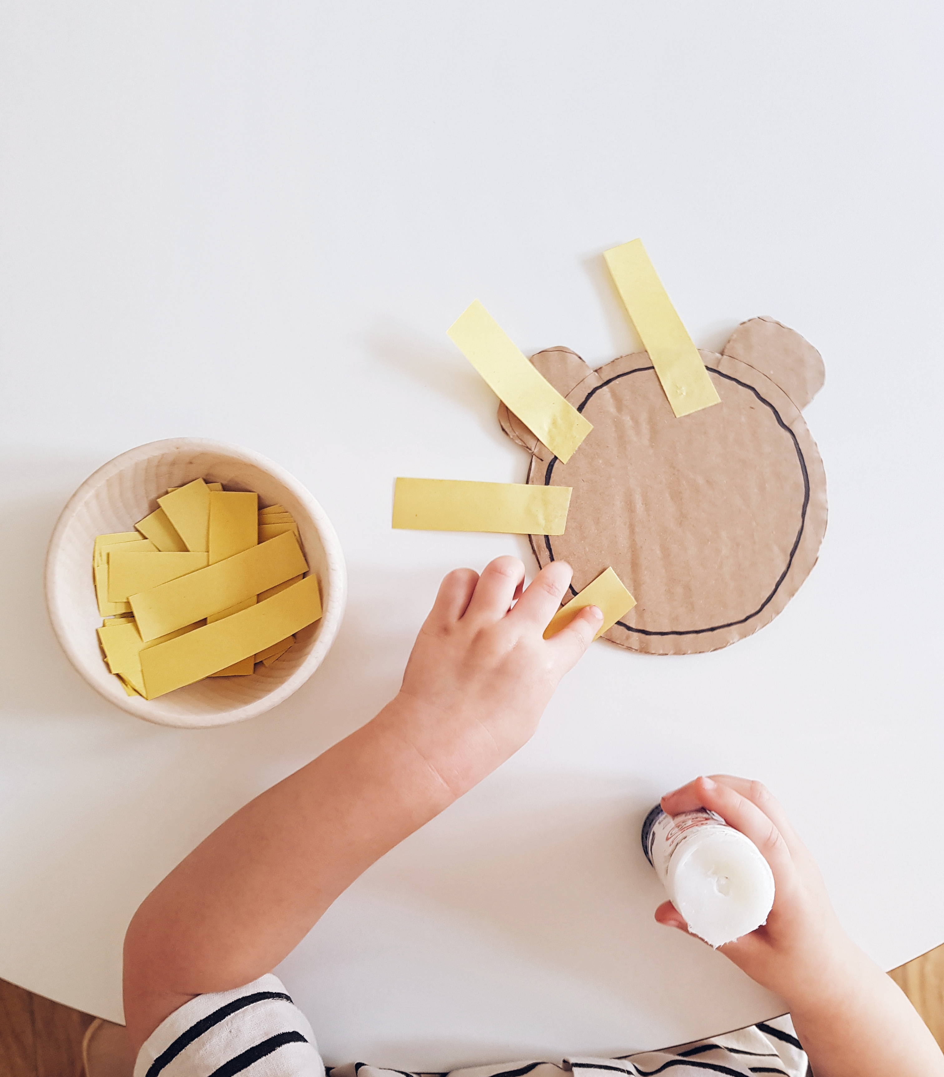 Montessori glueing activity