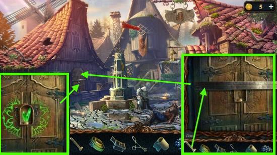 открываем двери при помощи лома и кристалла в игре затерянные земли 3