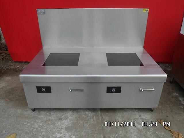 Bếp điện từ công nghiệp đôi 15kw