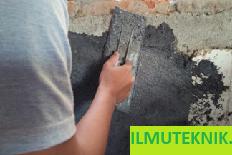 ILMU TEKNIK : Pekerjaan Plesteran pada Dinding Batu Bata