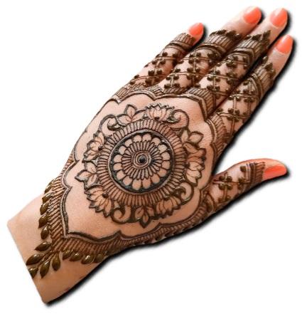 Back Hand Mehndi Design Mandala