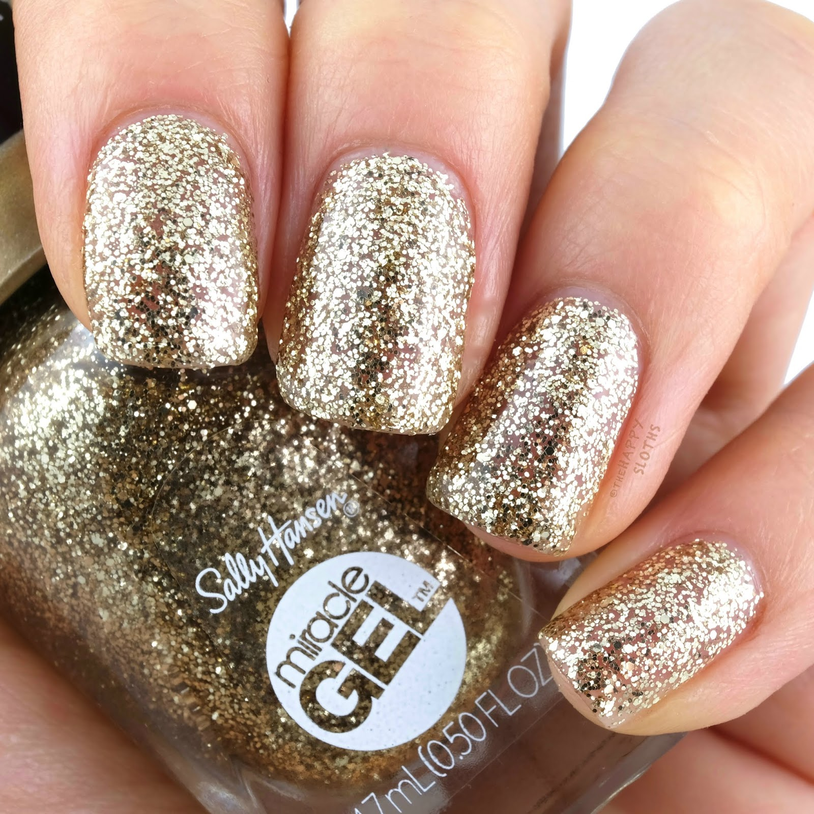 Sally Hansen   Holiday 2019 Oh My Gold! Miracle Gel Collection   152 Good as Gold: Review and Swatches