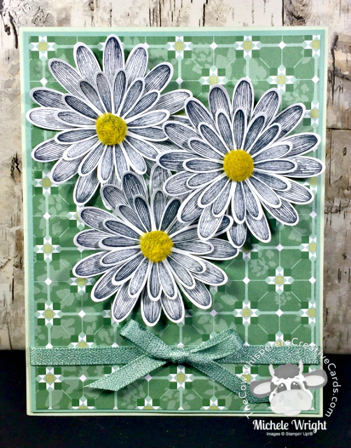 Card, Daisy Lane, Garden Lane Designer Series Paper, Daisy Punch, Medium Daisy Punch