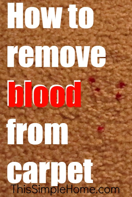 how to remove blood from carpet