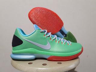 Nike KD5 Elite Green Basket Premium, sepatu basket replika premium, harga sepatu basket