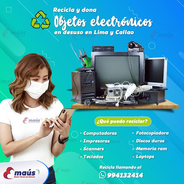 Recicla y dona objetos electrónicos desde tu empresa objetos en desuso