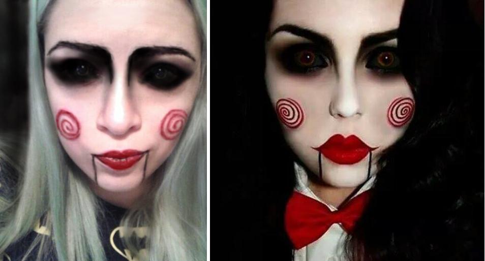 Dollka Blog Halloween Make Up Lalka Z Filmu Piła