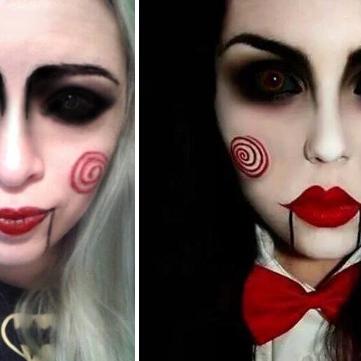 "Halloween Make-up - Lalka z filmu ""Piła"""