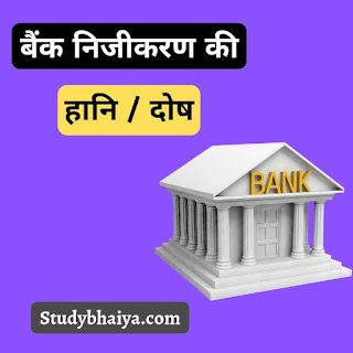 बैंक निजीकरण की हानि / दोष
