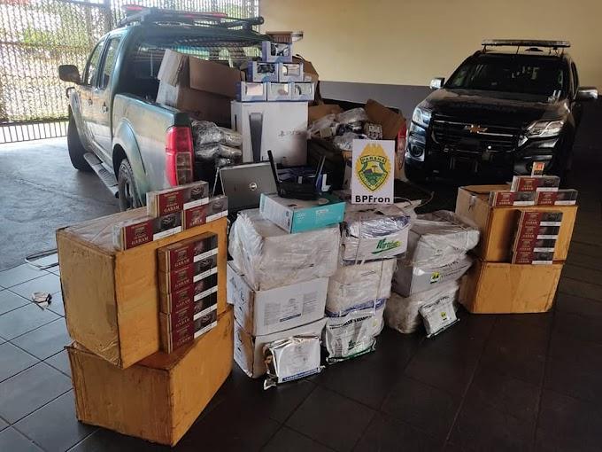 BPFron apreende volumes com contrabando em Guaíra-PR