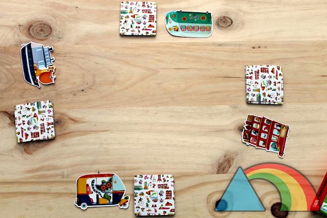Preparación del juego Batapuzzle de Djeco