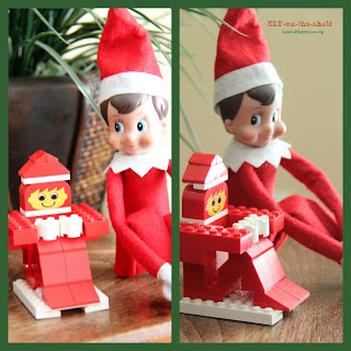 LEGO Elf on the Shelf. You can make this too! Ideas for Christmas Fun with your Elf-on-the-Shelf