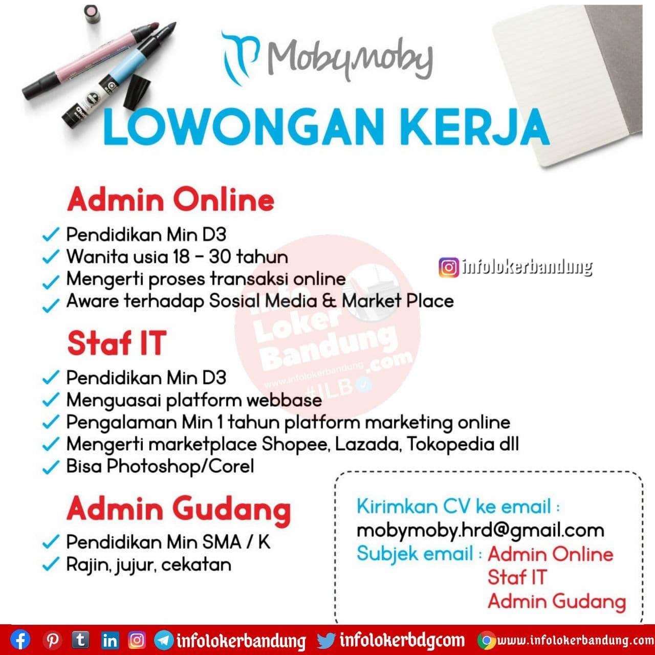 Lowongan Kerja Mobymoby Bandung Desember 2020