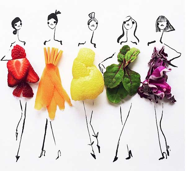 Fashion and Food Illustrations by Groehrs