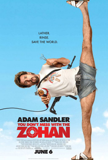 You Don't Mess with the Zohan 2008 Dual Audio ORG Hindi BluRay 480p 300MB IMDb: 5.5/10 || Size: 337MB || Language: Hindi + English(Original Audios)  Genre: Comedy Quality: 480p BluRay  Director: Dennis Dugan Writers: Adam Sandler, Robert Smigel  Stars: Adam Sandler, John Turturro, Emmanuelle Chriqui  Storyline: An Israeli Special Forces Soldier fakes his death so he can re-emerge in New York City as a hair stylist.