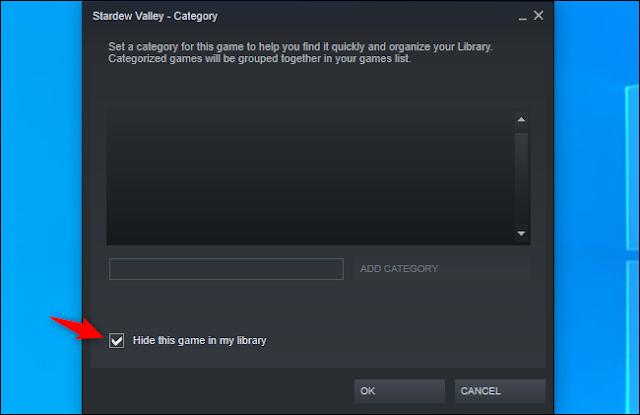 إخفاء لعبة من مكتبة Steam الخاصة بك
