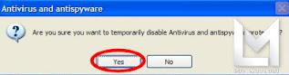 tips Eset NoD32 mematikan sementara tanpa notif