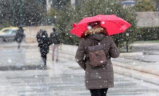 πολικό ψύχος Χιόνια από Δευτέρα ακόμη και στην Αττική