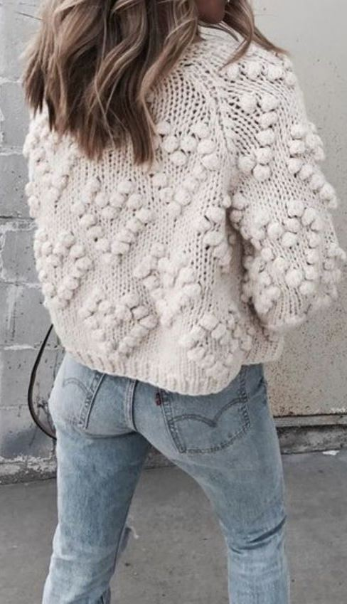 Pommed Cable Sweater