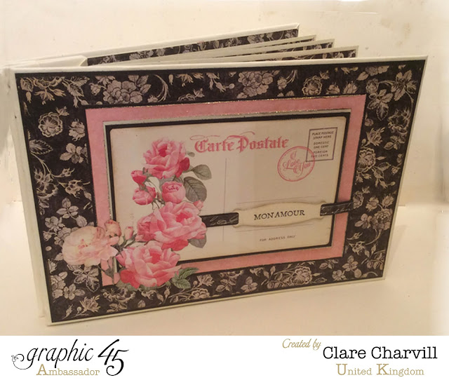 Mon Amour Post Bound Album  Clare Charvill Graphic 45