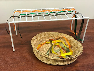 Fine Motor Ribbon Weaving