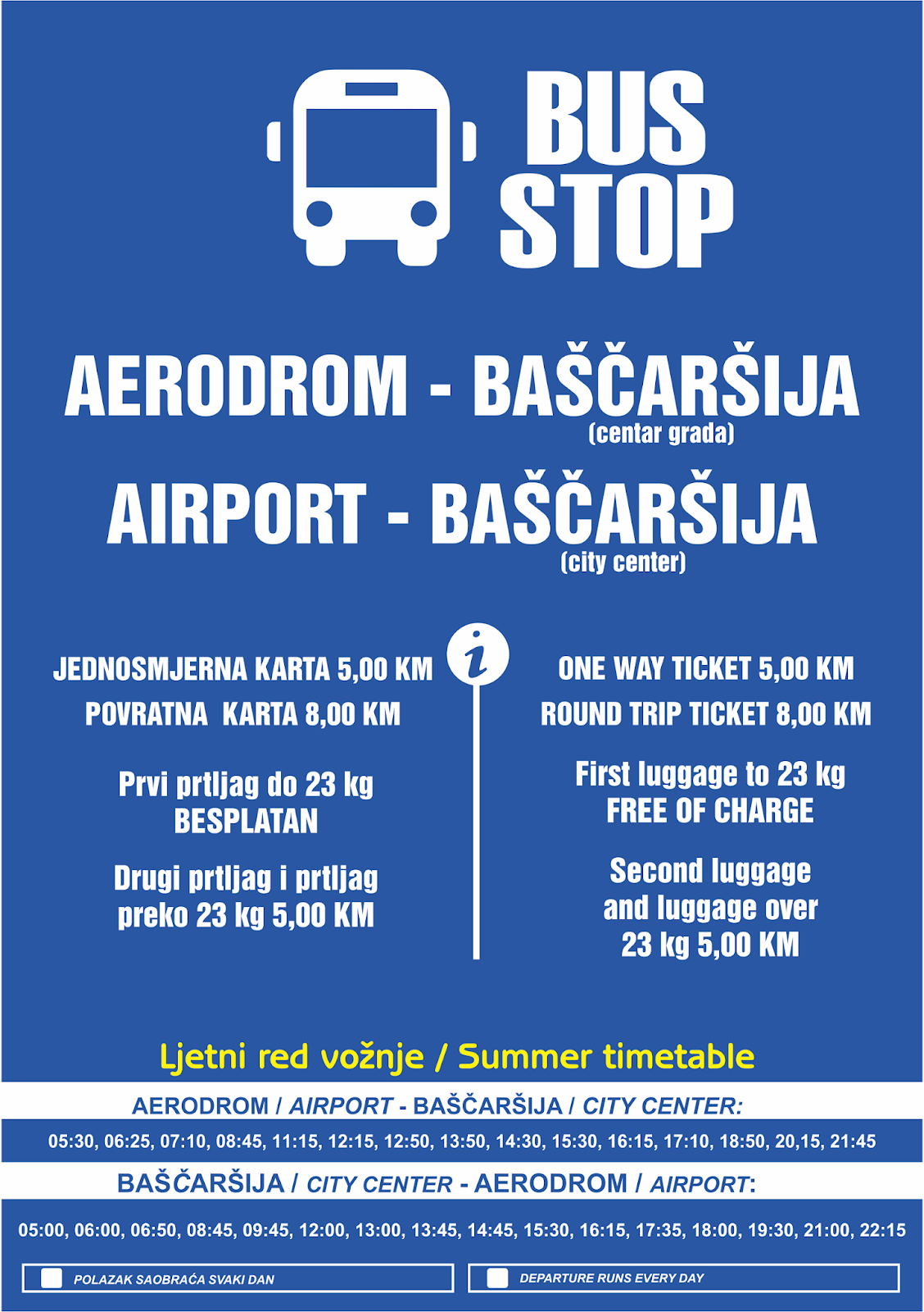 Bosnia And Herzegovina Aviation News Bus Schedule