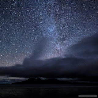 Milky way over Rum