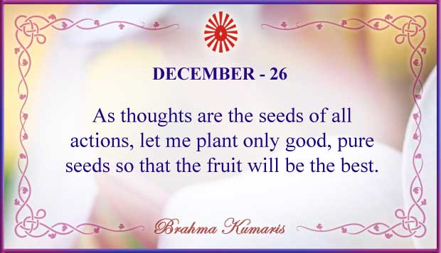 Thought For The Day December 26